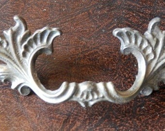 1 vintage French styled drawer pull 3 inch centers