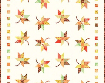 TWIRL Quilt Pattern - Fig Tree & Co. - Joanna Figueroa - Jelly Roll Quilt Pattern - Autumn Leaves Fall Quilt Pattern