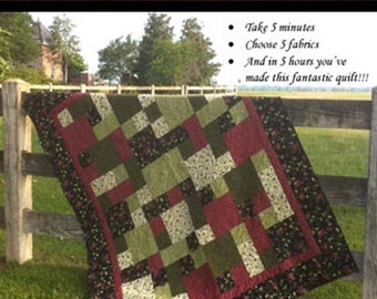 TAKE 5 Quilt Pattern - The Teacher's Pet TP#200 - Easy Quilt Pattern - Beginner Quilt Pattern