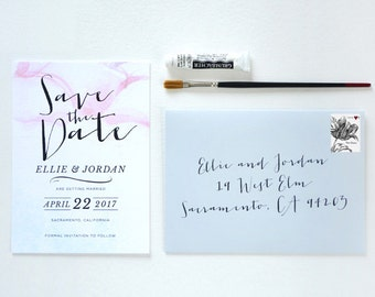 Antheia Watercolor Save the Date - SAMPLE ONLY (Price is not full order per unit price, see description)