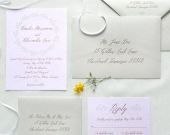 Lark Invitation Suite - SAMPLE ONLY (Price is not full order per unit price, see description)