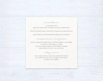 Printed Information Card – Love Birds