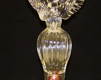 Hand Blown Glass Art Garden Art Sculpture Angel Oneil 6685
