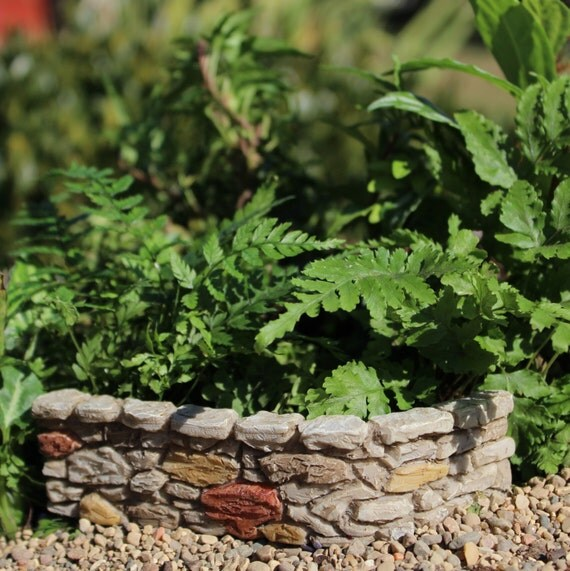 Miniature Cobblestone Wall, Fairy Garden Accessory, Home and Garden, Terrarium, Topper, Embellishment
