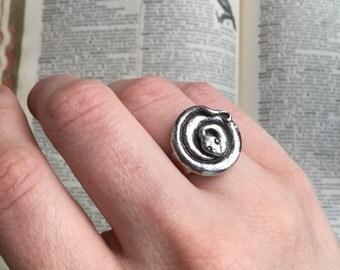 Serpent Snake ring, Goddess power animal, Adjustable from size 5 -10