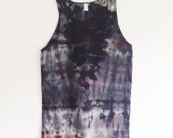 Hand Dyed Dark Mineral Tank Top in Small