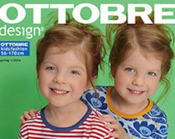 Ottobre Design Magazin Sewing Pattern for Kids  1 / 2016 Spring German Edition