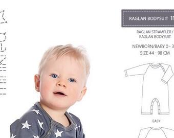 Minikrea 11402 Raglan Bodysuit Sewing Pattern for Newborn Dänish Design