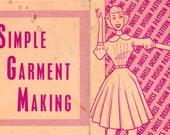 1960s Vintage Sewing Pattern Drafting book Simple Garment Making Circle Skirt Shift Shirts Collars Cuffs Seams How To Sew