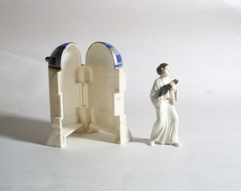Vintage Star Wars 1996 Nesting R2D2 & Princess Leia Figures from Applause Lucas Film