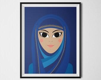 Muslim Doll, Islamic Wall Art, Muslim Art, Arabic Decor, Islamic Art, Arabic Wall Art, Islamic Print, Islamic Decor, Islamic Wall Decor
