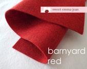 "Wool Felt 24"" X 72"" Piece - Barnyard Red - Wool Blend Felt"