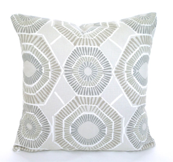 Gray Couch Pillows: Taupe Tan Gray Pillow Covers Decorative Throw Pillows Tan