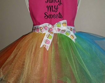 Adult Personalized Multi-color Tutu Apron