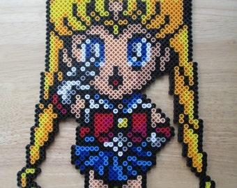 Sailor Moon, Sailormoon, sailor jupiter, sailor mars, sailor mercury, sailor venus, sailor moon art, anime, perler pieces, perlers, perler