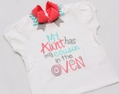 Big Cousin Announcement Shirt - New baby Announcement - Coral, Aqua, Grey - Coordinating Hairbow