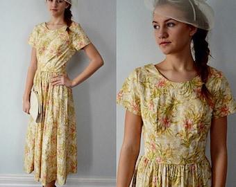 Vintage 1980s Dress, Laura Ashely, 1980s Laura Ashley, Floral Dress, Vintage Dress, Summer Dress, Cotton Dress