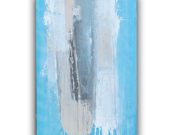 Serene Acrylic Large Canvas Painting, Abstract wall art by Erin Ashley
