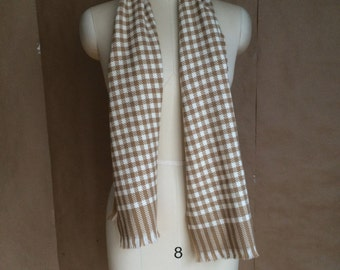 vintage 1990's 90's houndstooth scarf / scarve / retro minimalist / chic / traditional / fall autumn