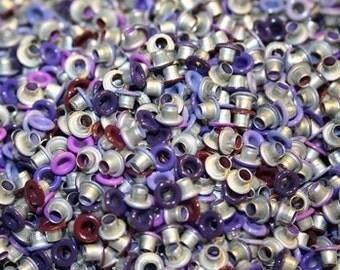 Purple Eyelets, 1/8 inch, Purple, Scrapbooking, 200 Eyelets, Round Metal, Eyelets, Purple Round, Scrap Booking, 1/8 Purple Eyelet, Gothic
