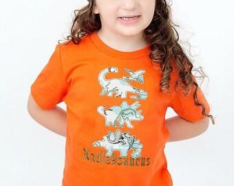 Dinosuar Shirt, Dino Slouchy Beanie Hat, Boy, Girl, Personalized, Birthday Dinosaur, School Shirt, Toddler Slouch Hat, Baby Hat