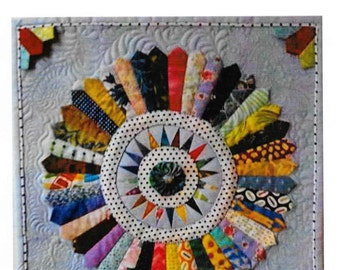 Quilt Pattern, Scrappy Dresdens, Scrap Quilt Pattern, Sam Quilt Designs, Anne Marcellis, Wall Hanging, PATTERN ONLY