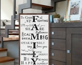 Family Rules Sign - Personalized Family Rules Sign - Wood  Sign - House Rules - Words to Live By   Custom FAMILY RULES Sign   Rustic Sign