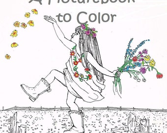 Childhood Friends COLORING BOOK for Adults-Teens-Children-8 X 11-People Pictures,,Family,Home,Adult Color Art,by artist Patty Fleckenstein