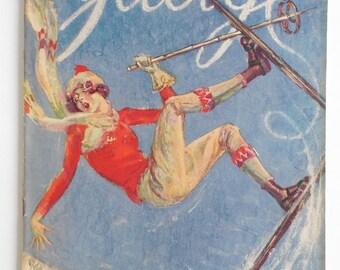 1927 Judge Magazine - Vintage Magazine - Ski Cover - Ski Art - Ski Paper - Graphic - Vintage Ski