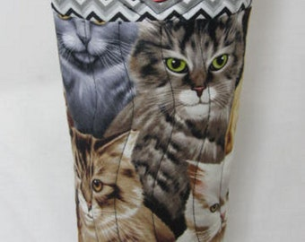 Cats Wine Bag Wine Tote Bag Refillable Wine Carrier Gift Under 25 Wine Bottle Bag Fabric Wine Bag Quilted Wine Bag