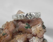 Sterling Engagement Ring with CZ