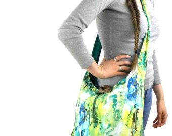 Cross Body Bag - Bag for Women - Hobo Bag - Sling Bag - Hippie Bag - Crossbody Hobo Bag - Vegan Bag - Hobo Purse - Crossbody Bag - Green Bag