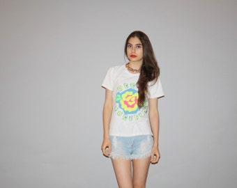 Vintage 80s Neon OP Surf Ocean Pacific T Shirt  - 1980s Surf Tshirt  - Vintage Surfer Tees  - WT0468