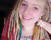 Bird earrings, thunderbird hoop earrings, bird jewelry