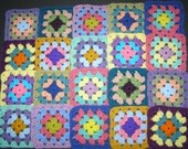 20 Crochet Granny Square Blocks for Afghan - Multicolored - 5 X 5 inches