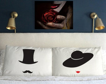 RETRO LOVE Pillow Case  Gift   Wedding Perfect Couple