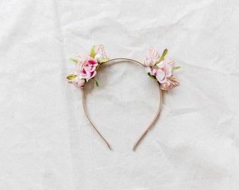 blossom & forest cat ear flower crown headband // FLEUR CHAT / bohemian floral headpiece flower crown