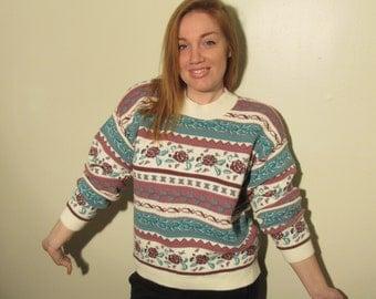 Vintage Rose 90s Sweater