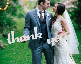 Thank You Sign Wedding Sign Photo Prop for Thank You Card - Wedding Signs for Thank You Cards (Item - TYU100)