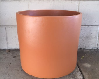Vintage Orange Gainey Ceramic Planter