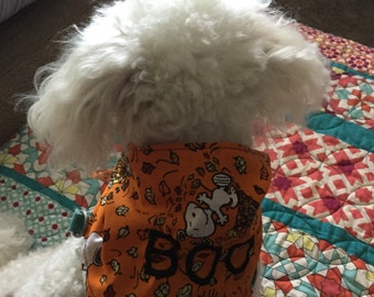 Dog Bandana BOO Halloween Embroidered Charlie Brown Snoopy
