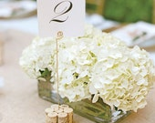 Tall Wine Cork Table Number Holder, Photo Holder or Menu Card Holder - Set of 2 - Featured on The Knot