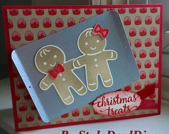 Gingerbread Christmas Cookie Treats Card