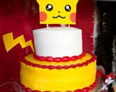 Pokemon Inspired Printable Pikachu Cake Topper- INSTANT DOWNLOAD