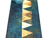 Table Runner Decor Modern Teal