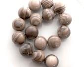Polish Flint smooth round 25mm - pick your bead - large Polish Flint beads