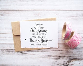Thank You Stamp with Website Address for Small Business - Custom Rubber Stamp , Direct Sales , Photographers , Independent Artists