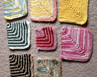 hand knit 100% cotton coasters