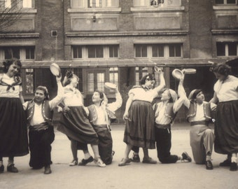 French Photo of Children Dancing, circa 1930s