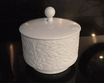 Heinrich Porcelain/Heinrich Bisque/ Op Art Lidded Container/White Matte Porcelain/Mid Century Germany Porcelain Container By Gatormom13